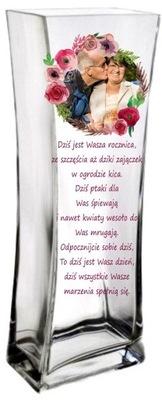 Váza s nápisom, výročie darček svadobné 30 40