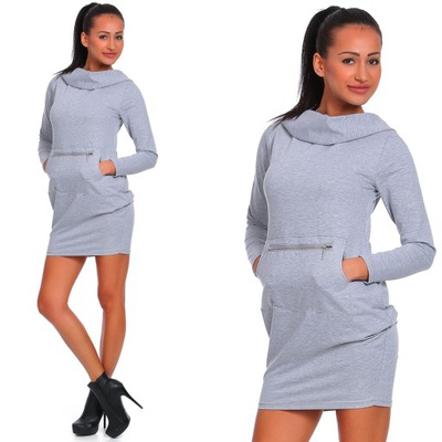 c085aff8c2d8c2 MOE mini SPORTOWA sukienka z kapturem 36 S 7212595099 - Allegro.pl