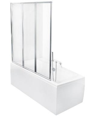 Sprchové dvere - Kúpeľňa 3-dielna 130x140 Besco