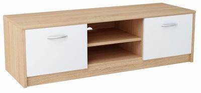 Шкаф столик RTV 2DC 120см Белый -сонома комод
