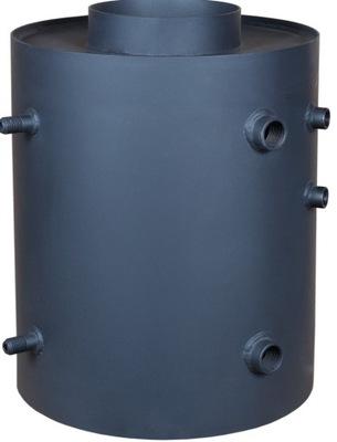 Turbodym ohrievač vody s vertikálnym cievka