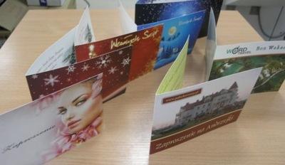 Zaproszenia, życzenia poczt. składane 50szt A6 P