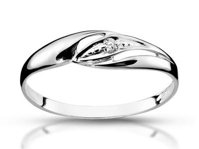 Pierścionek zaręczynowy z diamentem 0,025ct Si/G