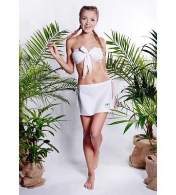 Šaty pre sauna ASILI sukne + nohavičky M biele YEYE