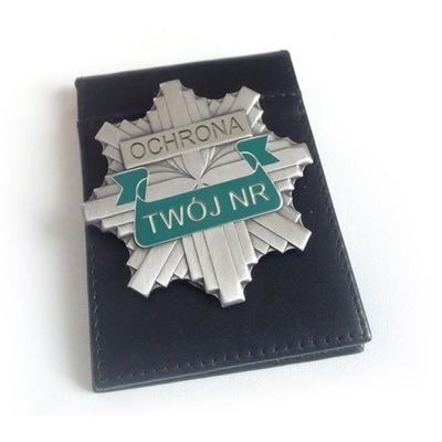 Odznaka OCHRONA z własnym grawerem
