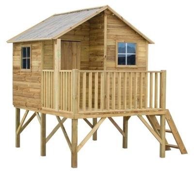 Drevený dom v Záhrade Pre Deti Ježko 4iQ