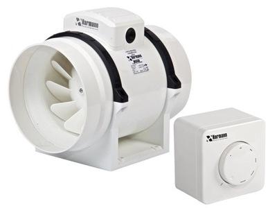 Ventilátor - Kanálový ventilátor ML 125/350 328 m3 / h + REGULÁTOR