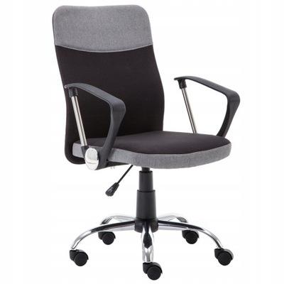 Fotel biurowy TOPIC obrotowy CZARNO-POPIELATY