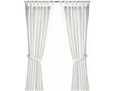 IKEA LENDA załony s postroj, 2 Ks biela 140x300