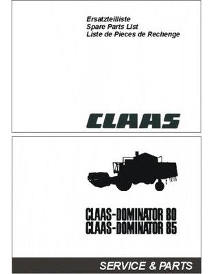 CLAAS DOMINATOR 85/80 - KATALOG ЗАПЧАСТИ