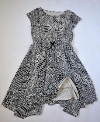 8344d11b h&m sukienka maxi dluga z kwiatem 134/146 bdb - 7528202579 ...