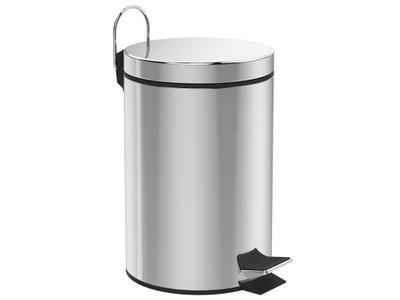 Корзина для мусора 5Л Нержавеющая сталь , Хром