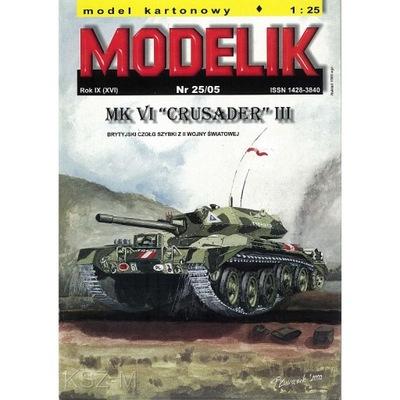 Штампик 25 /05 Британский танк Crusader III 1 :25