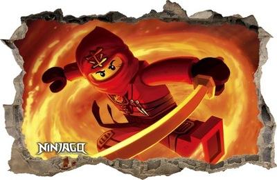 Nástenná samolepka - SÚPRAVY NA STENY Dierka LEGO NINJAGO 90 115x75cm