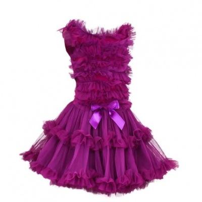 sukienka taniec SESJA urodziny N013GRAPE   6-7lat