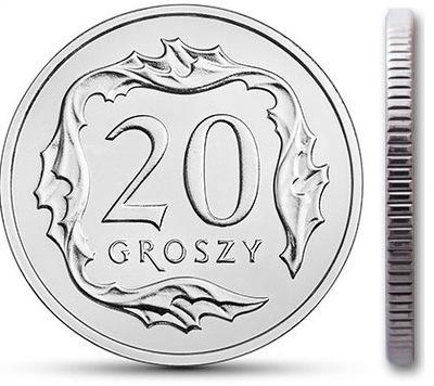 20 gr groszy 1997 mennicza mennicze z woreczka