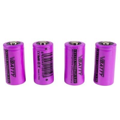 Fotoaparát batérie CR 123a 3.0 V 1200 mAh RCR 4x