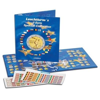 Leuchtturm - Альбом на Пятьдесят семь монет 2 Евро + наклейки