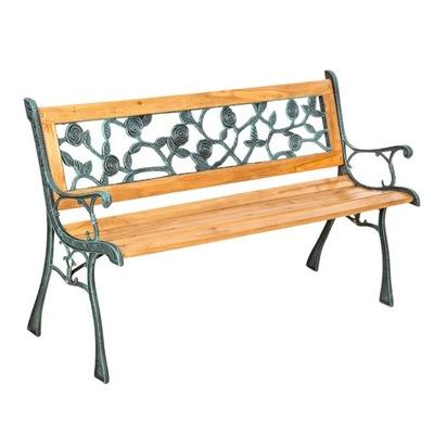 Záhradné lavice s żeliwnymi prvky 401424