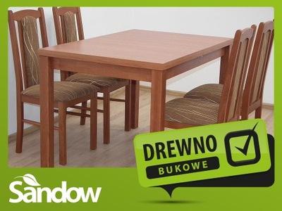 tani ZESTAW stół 80x120x150 + 4 krzesła WARTO