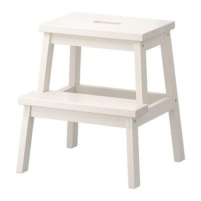 IKEA BEKVAM stolice s schodkiem biela, STOJAN