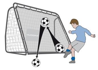 Futbal - HUDORA futbalový gól 2-v-1 REBOUNDER 213cmNaJutro