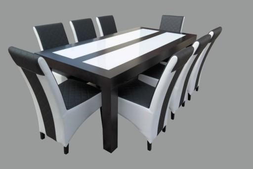Stół I Krzesła 8 Sztuk Zestaw Do Jadalni Salonu