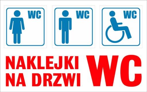Wszystkie nowe NAKLEJKI NA DRZWI - WC, TOALETA 6705379392 - Allegro.pl JT72