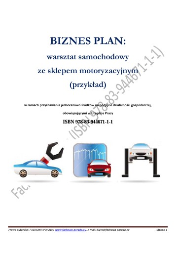Biznesplan Warsztat Samochodowy Ze Sklepem 2016 44 90 Zl Allegro Pl Raty 0 Darmowa Dostawa Ze Smart Serock Stan Nowy Id Oferty 6875639240