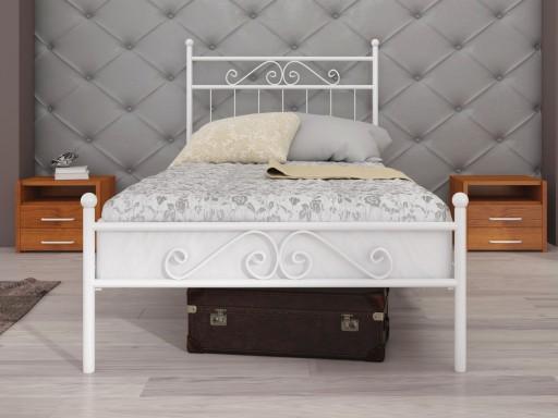 łóżko Metalowe Lak System 80x200 Wzór 2j Stelaż