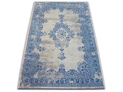 DYWAN VINTAGE 160x230 ROZETA niebieski #B118