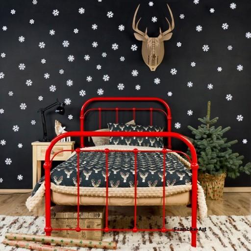 łóżko Metalowe Kute Babunia 120x200 Czerwone