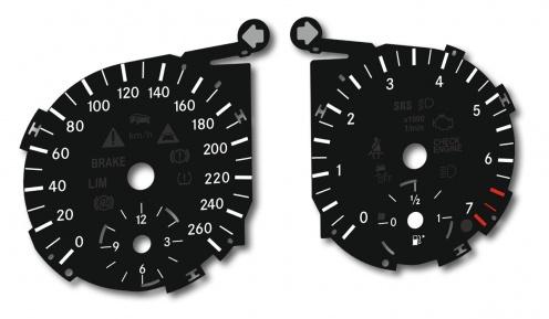Tarcze licznika Mercedes ML W164  i  GL X164