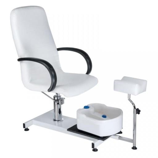 Fotel Kosmetyczny Fotel Do Pedicure Bw 100 Biały