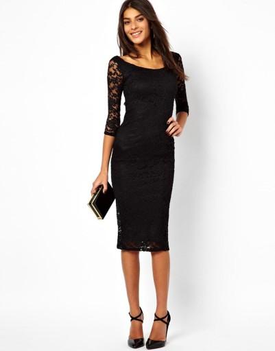 678daab202715c Sukienka wieczorowa koronkowa bordowa czarna L 40 7547690309 - Allegro.pl
