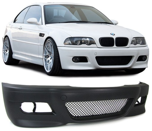 PRIEKINIS BAMPERIS (BUFERIS) BMW E46 LOOK M3 COUPE CABRIO SEDANAS