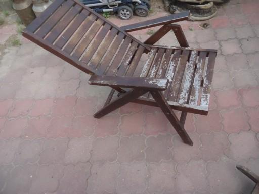 Leżak Krzesło Tarasowe Fotel Rozkładany