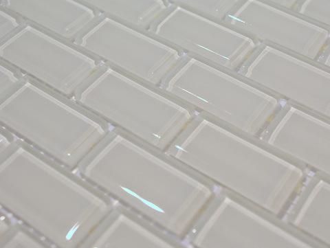 Mozaika Szklana Biała Cegła łazienka Kuchnia