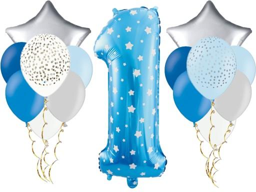 Zestaw Pierwsze Urodziny Roczek Dekoracje Balony 7454458142 Allegropl