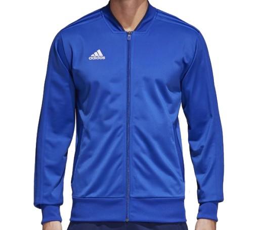 ADIDAS BLUZA ROZSUWANA CONDIVO 18 NIEBIESKA r - XL 7044236216 Bluzy Męskie Bluzy WR HXBQWR-3