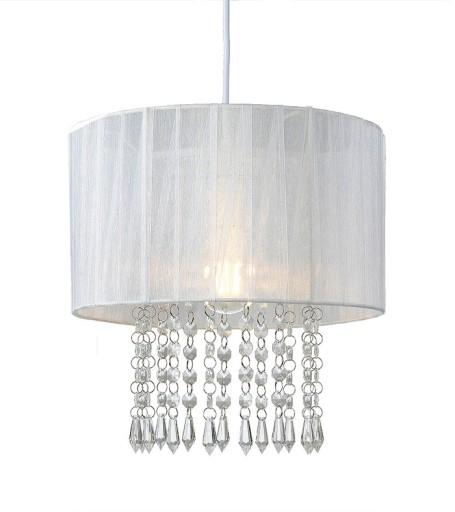 Nowoczesna Lampa Biała Do Sypialni Glamour Kryszta
