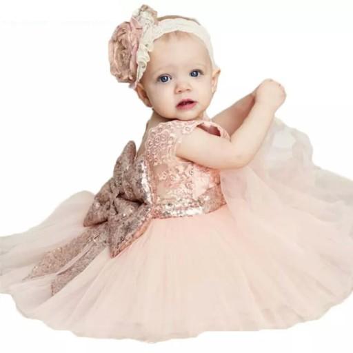 7a1df68781 Śliczna Sukienka Wizytowa Wesele Urodziny 92 cm 7233411939 - Allegro.pl