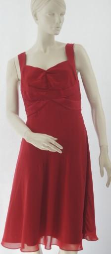 definitions czerwona rozkloszowana sukienka 38/40