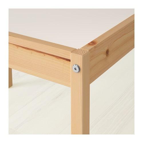 IKEA LATT stolik + 2 krzesła, drewniany dziecięcy