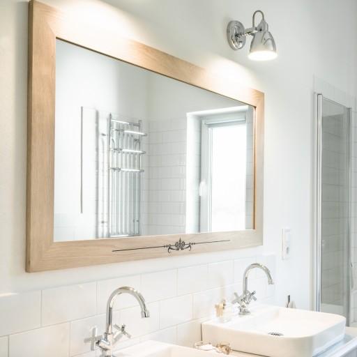 Duże Lustro Do łazienki W Dębowej Ramie Jakość