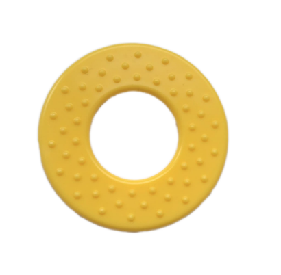 1szt okrągły gryzak, dodatek do zabawek, żółty