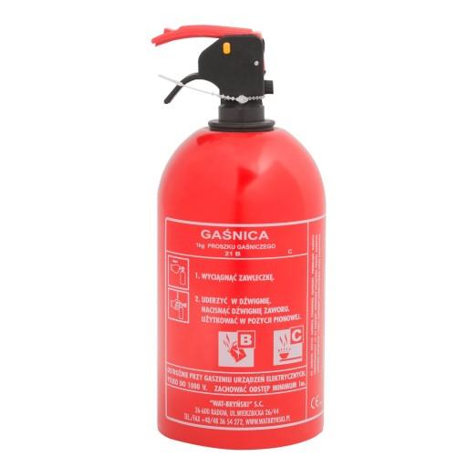 FIRE EXTINGUISHER 1kg POWDER z HOOK METAL