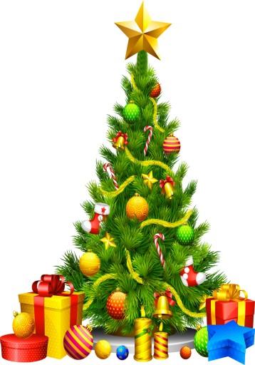 Naklejki świąteczne CHOINKI na szybę ŚCIANĘ 100cm 7606688086 - Allegro.pl
