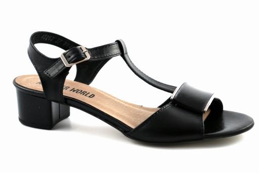 sandały damskie czarne 37
