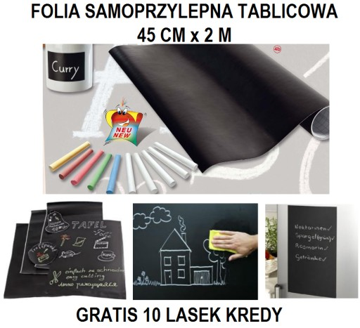 FOLIA SAMOPRZYLEPNA - TABLICOWA 45cm x 2m